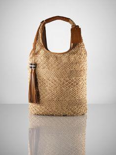 Jute Crochet Large Hobo - Ralph Lauren Collection Handbags  - RalphLauren.com