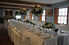Frosty Winter Wedding Day at The Inn at Whitewell Wedding Table, Wedding Day, Party Wedding, Cosy Dining Room, Crystal Candelabra, St Michael, Flower Designs, Wedding Events, How To Memorize Things