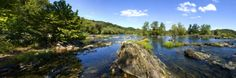 Panoramic of Potomac River Above Great Falls on Virginia Side of River Photographic Print by Paul Sutherland at Art.com