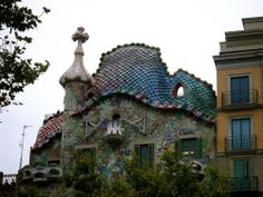 Gaudi-designed building in Barcelona- I took SO many photos here, truly unique