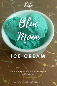 This blue moon keto ice cream brought me back to my childhood. When I tasted the end product of this blue moon ice cream I melted in delight. I could not tell the difference between my recipe flavor and the store-bought stuff. If you miss blue moon and live in a state without it, make this tonight.