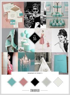 Breakfast At Tiffany's Mood Board in honor of Audrey Hepburn's Birthday | Swooned
