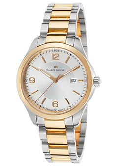 Maurice Lacroix Women's Miros Two-Tone Stainless Steel Silver-Tone Dial