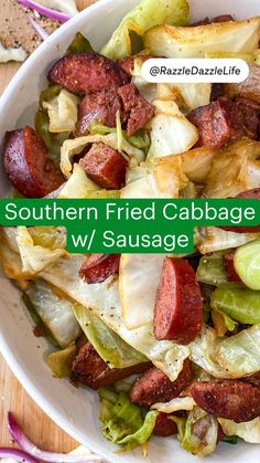 Southern Fried Cabbage, Southern Recipes, Southern Food, Cabbage Recipes, Food For Thought, No Cook Meals, Quick Easy Meals, Good Food, Yummy Food