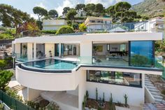 This marvelous and luxurious villa is located in the equally ravishing French Riviera. The property is nestled in a beautiful and quiet residential area below Eze Village in southwest France, between Nice and Monte Carlo, one of the most stunning stretches of the French Riviera. It's located just above the sea with 180-degree views of the Mediterranean Sea and the surrounding coastal cliffs. It has a number of spectacular views..
