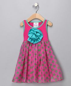 Take a look at this Pink Polka Dot Peony Dress - Infant, Toddler & Girls by Freckles + Kitty on #zulily today!