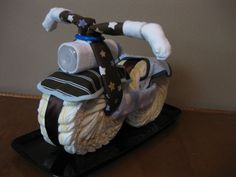 Items similar to Diaper Cake - Diaper Motorcycle - Baby Shower Gift - Boy - Baby Shower Centerpiece Baby Shower Gifts For Boys, Baby Shower Games, Baby Shower Parties, Baby Boy Shower, Baby Gifts, Baby Shower Motorcycle, Motorcycle Baby, Diaper Motorcycle Cake, Motocross