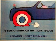 "Raymond Savignac, ""Socialism Does Not Work,"" France, 1981"