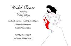 elegant, stylish bridal shower invitation