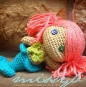 Mermaid Crochet Doll Pattern - via @Craftsy