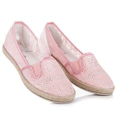 Balada Lace Espadrilles Slip On pink Types Of Heels, Women's Espadrilles, Every Woman, Pink Lace, Spring Summer Fashion, Slip On, Sneakers, Tennis, Sneaker