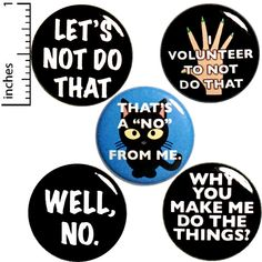 Sarcastic Fridge Magnets I Don't Want To Don't Make Me Do Stuff Refrigerator or Locker Magnets Random Humor Sarcasm Gift Set 5 Pack 1 Inch Funny Buttons, Cool Buttons, Locker Magnets, Work Gifts, Cheap Gifts, Funny Pins, Stuff To Do, Things To Sell, Small Gifts