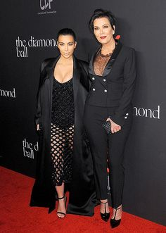 Kim Kardashian, Kris Jenner Show Cleavage, Legs in Mesh Outfits: Pic - Us Weekly