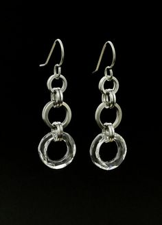 Clarissa Swarovski Crystals and Stainless Steel Earrings - Kit or Ready Made – Unkamen Supplies