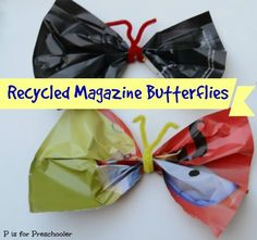 Recycled Magazine Butterfly Craft