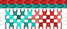 Normal Friendship Bracelet Pattern #10831 - BraceletBook.com
