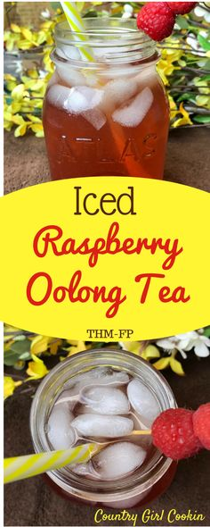 Iced Raspberry Oolong Tea (Sugar Free, THM-FP)