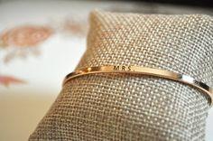 """Bangle Bracelet, """"Mrs"""", Gold and Rose Gold"""