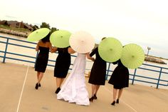 Apple green wedding with parasols - THIS IS IT!!!!! The colors i want to use!
