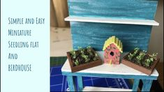 Super easy miniature Seedling flats and birdhouse An easy project that only takes less than an hour to make. Add to your DIY miniature projects. Easy Projects, Bird Houses, Dollhouse Miniatures, Super Easy, Crafty, Make It Yourself, Simple, Outdoor Decor, Video Tutorials