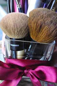 CHECK OUT OUR KABUKI BRUSH BATTLE!! :)