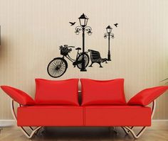 Street Lights Bike Bench Wall Vinyl Decals Sticker Home Interior Decor for Any Room Housewares Mural Design Graphic Bedroom Wall Decal (5515) stickergraphics http://www.amazon.com/dp/B00K2XOWHC/ref=cm_sw_r_pi_dp_ZxpWtb1ZFJ05Q9ZQ