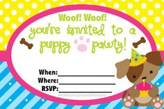 FREE Puppy Party Printables