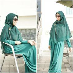 fresh green, stay simple! ;) #Shar'i #Hijab #muslimfashion
