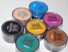 New Maybelline New York Color Tattoo Pure Pigments Review and Swatches. Read before you buy! #mayebelline #pigments #makeup #beauty