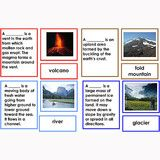 Montessori 123 - Classified Collection for Parts of a Volcano, River, Mountain and Glac - Montessori Materials