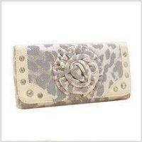 Billiga Rhinestone Metallic Wallet (vit) grossist