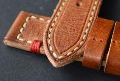 24x24mm orange vintage leather watch strap от VladislavKostetskyi