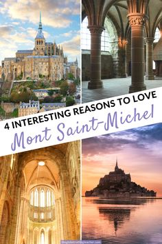 4 Interesting Reasons to Love Mont Saint-Michel| Mont Saint-Michel is one of the most popular places to visit in France and all of Europe. Save time in your France or Paris itinerary for a visit to Mont Saint-Michel! #travel #france #montsaintmichel