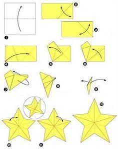 Magia da Arte: **Estrela de origami e Kusudama Trick são perfeita...