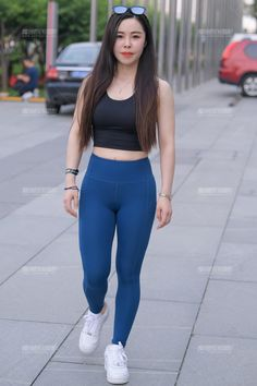 Yoga Pants Outfit, Yoga Pants Girls, Girls In Leggings, Tights Outfit, Most Beautiful Indian Actress, Beautiful Asian Women, Preety Girls, Curvy Girl Fashion, Sexy Jeans