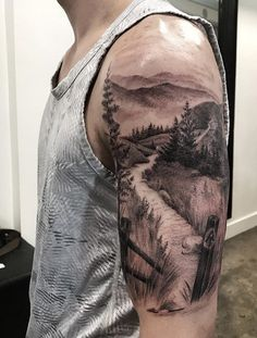 40 landscape tattoo ideas - tattoo motifs - 40 landscape tattoo ideas Informations About 40 Landschafts Tattoo Ideen – Tattoo Motive Pin You c - Natur Tattoo Arm, Natur Tattoos, Body Art Tattoos, Girl Tattoos, Tattoos For Guys, New Tattoos, Tattoo Drawings, Montain Tattoo, Berg Tattoo