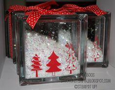 12 days of Christmas=day 7 (12-7-11)..with instructions Glass Block with Snow