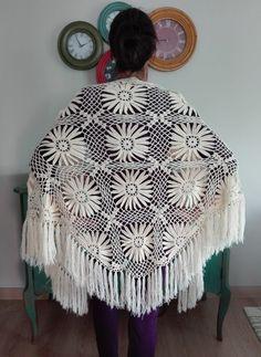 Crochet Shawl, Hand Crochet, Knit Crochet, Bridal Bolero, Christmas Crochet Patterns, Chainmaille, Shawls And Wraps, Craft Items, Little Princess