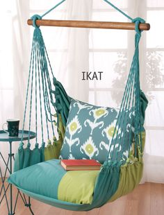 Garden Swing Chairs - Acacia, this would look awesome on my back patio