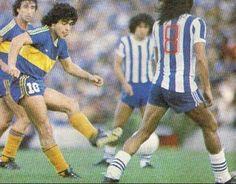 El día del debut en Boca, 1981