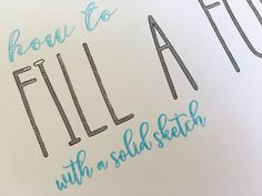 How to fill fonts with a solid sketch in Silhouette Studio so the sketch pens fill in the text with the Silhouette CAMEO.