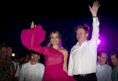 """Queen Máxima and King Willem-Alexander at the musical """"Soldier of Orange"""" during their last night in Aruba."""