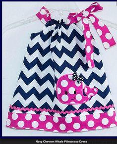 New Girls Navy Chevron Pink Dot Beach Dress Whale 12M 24M 2T 3 4 5  #Boutique #DressyEveryday