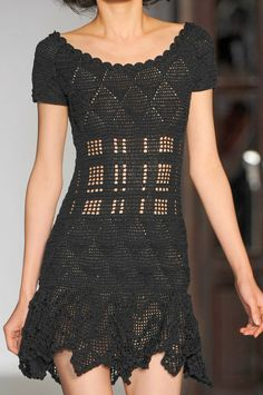 Michel Klein crochet dress