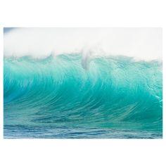 "Ikea Premiar Motif (waves, Hawaii) by Mark A. Johnson $149 - Width: 78 ¾ ""Height: 55 """