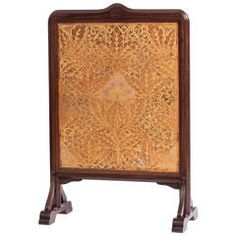 Coromandel Art Nouveau Fire Screen with Gilt Leather Panel by Theo Nieuwenhuis
