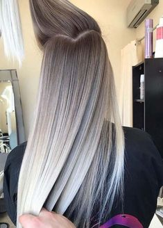 we rounded up 30 hair color ideas you can try if you have lo.- we rounded up 30 hair color ideas you can try if you have long hair! we rounded up 30 hair color ideas you can try if you have long hair! 30 Hair Color, Hair Color Shades, Ombre Hair Color, Hair Color Balayage, Balayage Hairstyle, Grey Ombre, Hair Updo, Hair Colour Ideas, Haircolor
