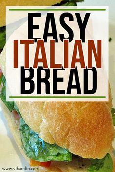 The Best Basic Italian Bread Recipe - Food Life Design Basic Italian Bread Recipe, Italian Bread Recipes, Homemade French Bread, Artisan Bread Recipes, Sandwich Bread Recipes, Best Bread Recipe, Easy Bread Recipes, Cooking Recipes, Sour Cream Banana Bread