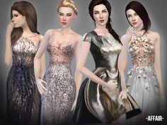 Sims 4 Updates: TSR - Clothing, Female : Affair Collection by April, Custom Content Download!