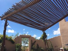 Twisted Pipe Shade Structure with Rusty Finish